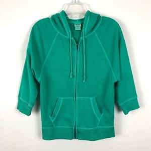 Mossimo Supply Company Green Zip Up Hoodie